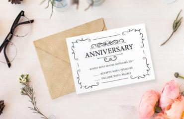 anniversary card print
