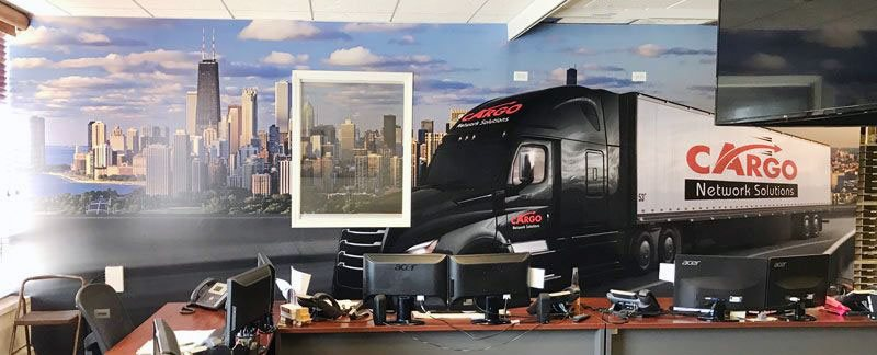 wall wrap office truck
