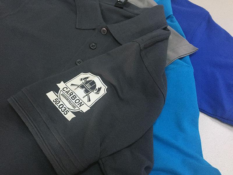 ee026ff24 Custom Uniform Collared Shirt Printing- Classic and Professional Look. Polo  shirts printing