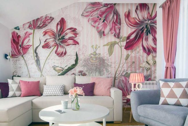 wall graphics living room