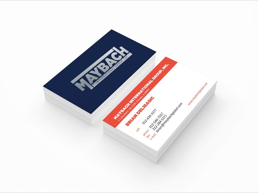 business card maybach company