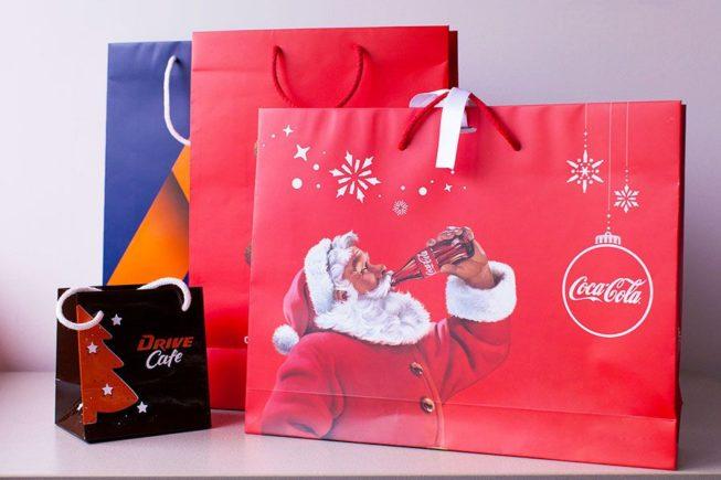 Paper bags coca cola