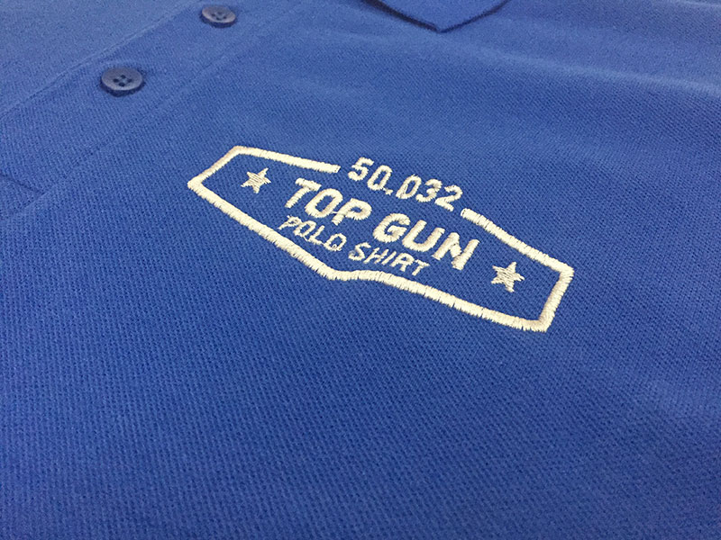 embossed logo on t shirt