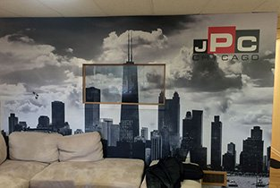 office wall wrap