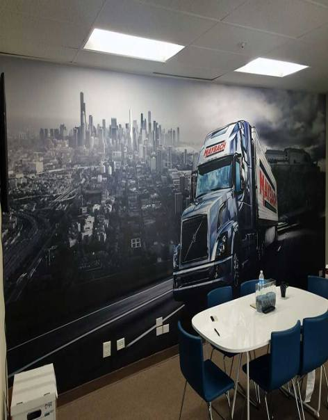 wall graphics truck