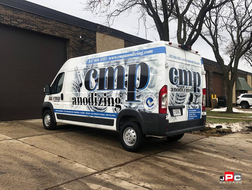 Van Wrap completely branded for CMP Anodizing with vinyl