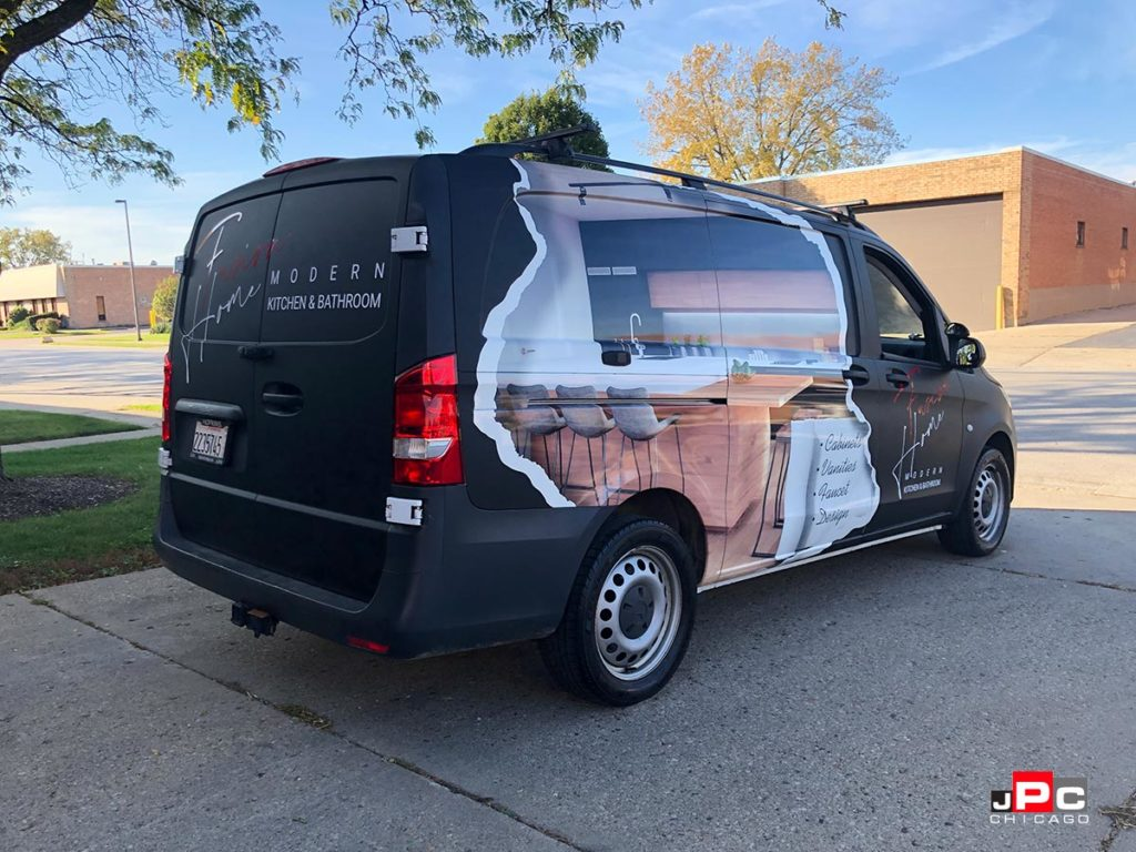 Fully wrapped commercial vehicle