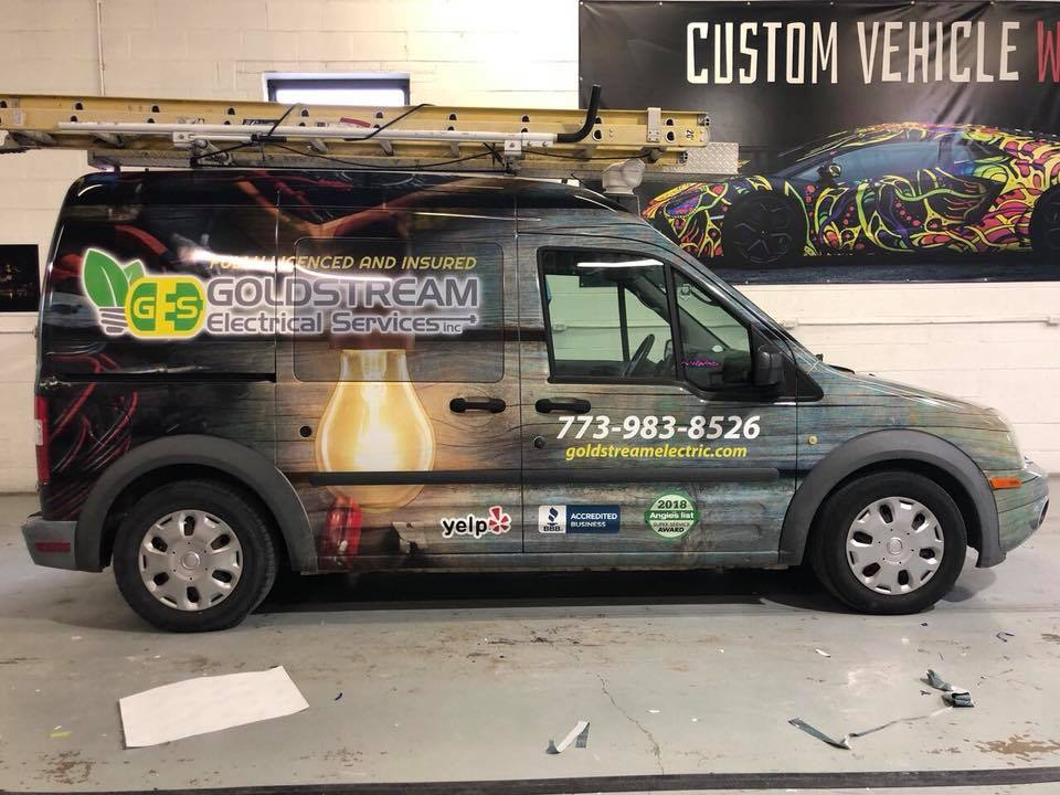 Goldsrtream pickup wrap