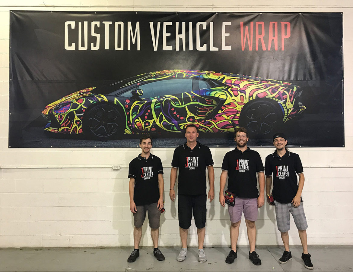 Car wrap team