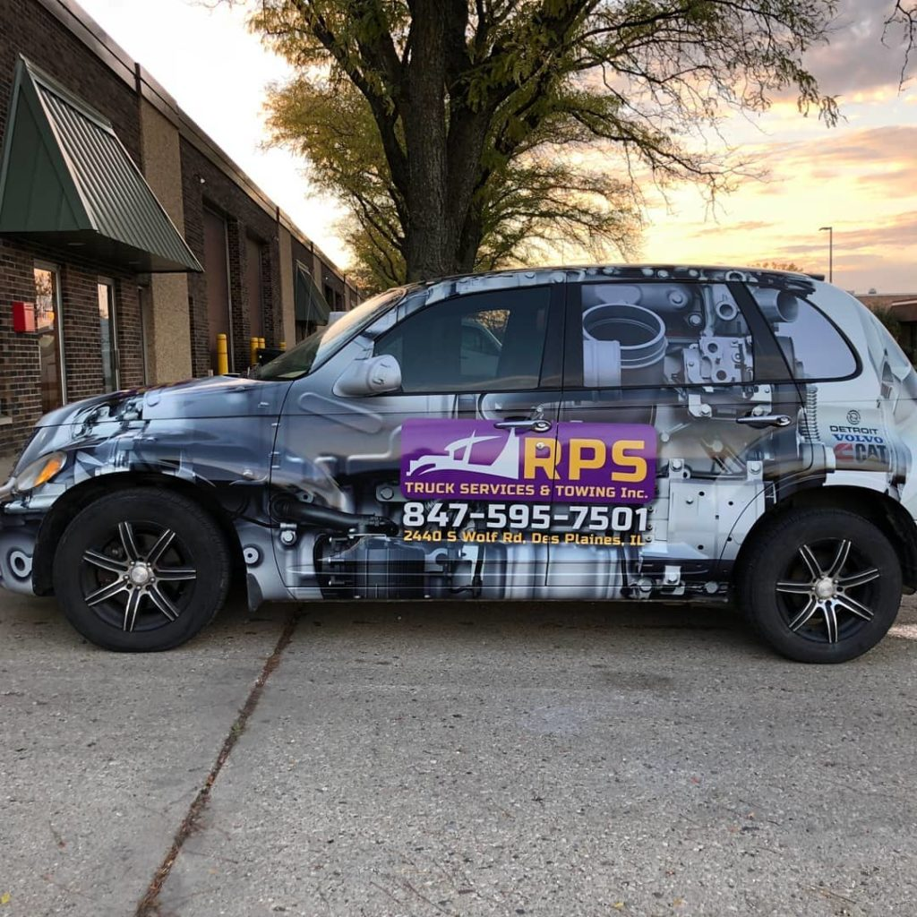 RPS towing car branding